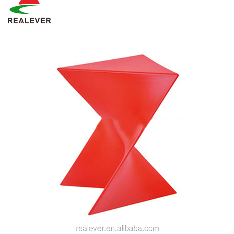 New design cheap irregular low plastic stacking stools