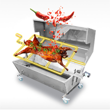 Commercial use smoke free roasted whole lamb oven charcoal grill machine for bbq fish pig sheep chicken roaster