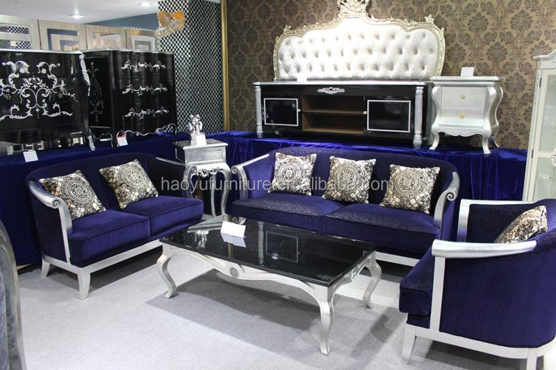 CS74 Blue Velvet Sofa Luxury Velvet Sofa Royal Blue Sofa