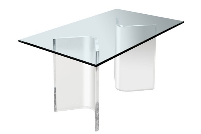 Acrylic V's Or Boomerang Coffee Cocktail Table Bases