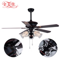 Zhongshan Led Lighting 5 Blades Customized Wooden Blades Remote Control Antique Air Cooling Ceiling Fan For Malaysia