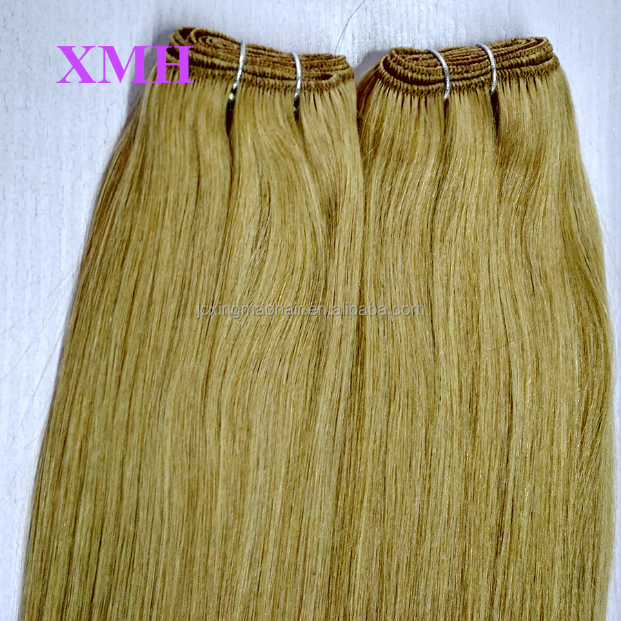 Quality guranteed juancheng factory wholesale brazilian hair double weft sealed