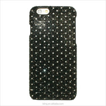 Black white small wave spakle dot crystal case cover for IPhone 6