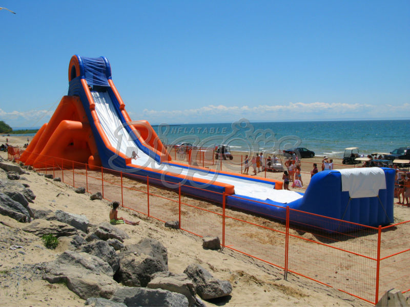 Free Shipping By Sea Purchase Festival Most Popular Commercial Giant Beach Inflatable Water <strong>Slide</strong> for Auld