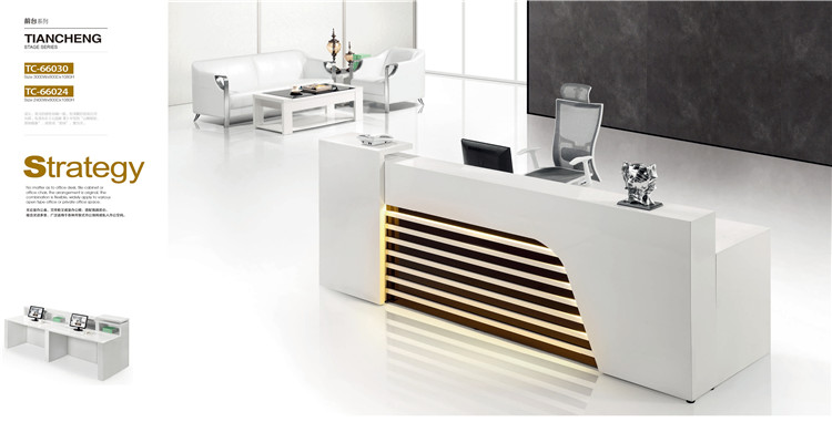 2 Seats Mdf Reception Desk Dimensions With Light Inside Product On Alibaba