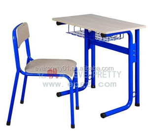 Private School Furniture Classroom Chairs Single Desk for Education