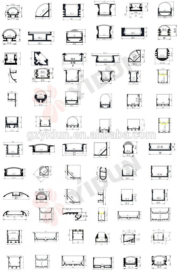 aluminium extrusion profiles catalogue  aluminium extrusion
