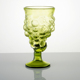 Handmade Mexican Style Grape Shape Green Clear Color 13 Ounce Beverage Fruit Drinks Wine Glass