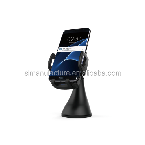 Qi compatible phone wireless car charger car holder with air vent mount