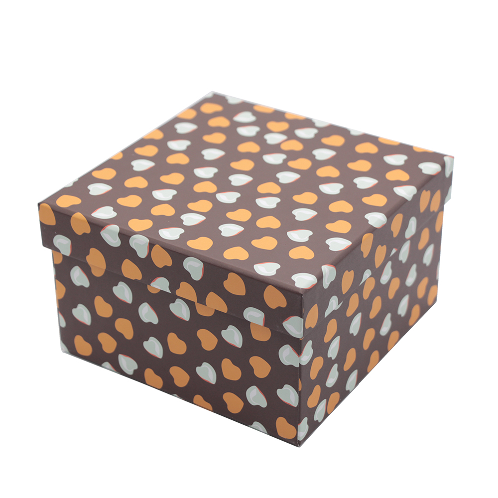 Creative handmade square shape mini candle packaging boxes packaging paper box with lid