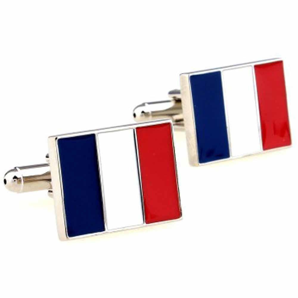 b6bbf1260c0 KORPIKUS   French Flag   Theme Stainless Steel Tricolour Cufflinks in Free  Designer Gift Bag