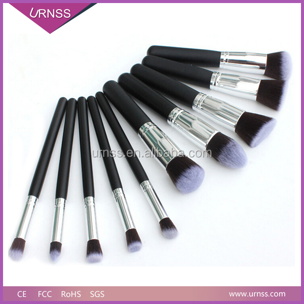 10 pcs makeup brush set with red pouch/Functional cosmetic brushes/make up brushes as mother gift