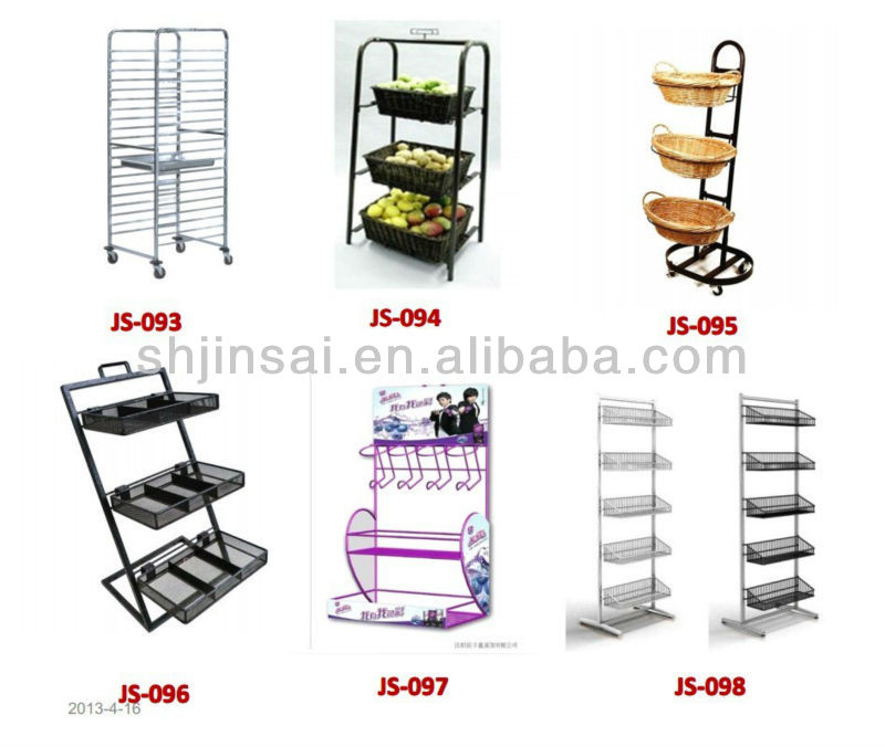 Multifunction stationary metal food rack from China