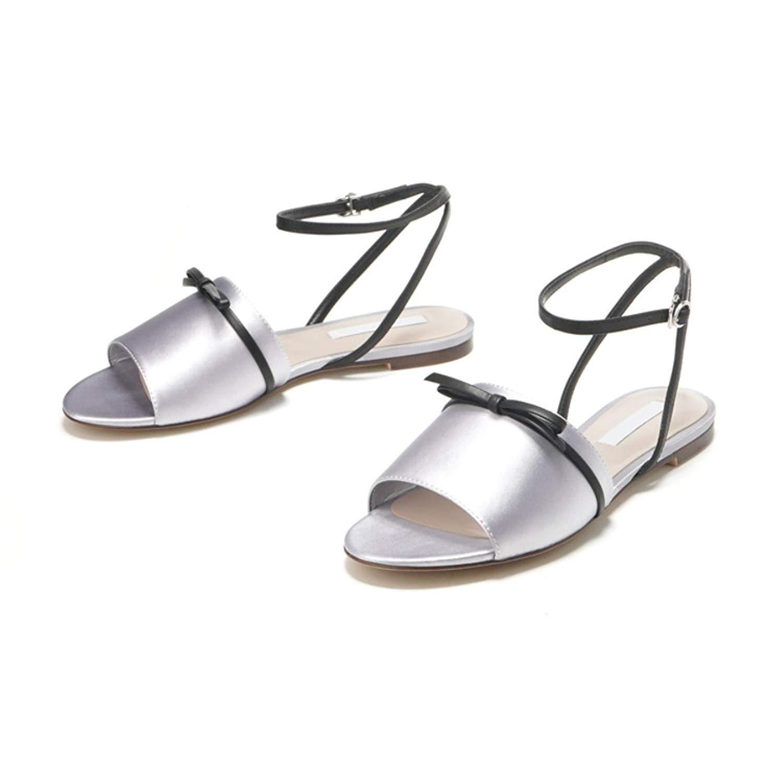 bd9877d53 Flat Summer Shoes Women Sandals Casual Shoes Sandals Women Peep Toe Beach  Silver Ladies Shoes Women