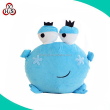 lovely and cute stuffed frog emoji plush pillow wholesale in china