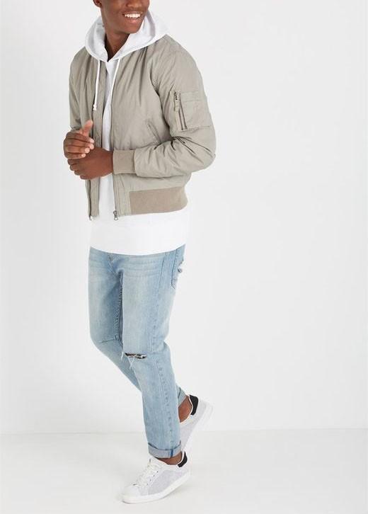 4e161272fd7 Man Jackets Nylon Thick Fabric Fabric Plus Size Varsity Jacket Mens Plain  Bomber Jacket