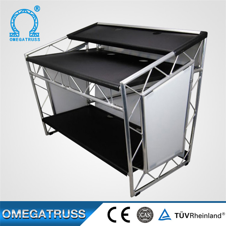 easy set up custom aluminum dj truss booth