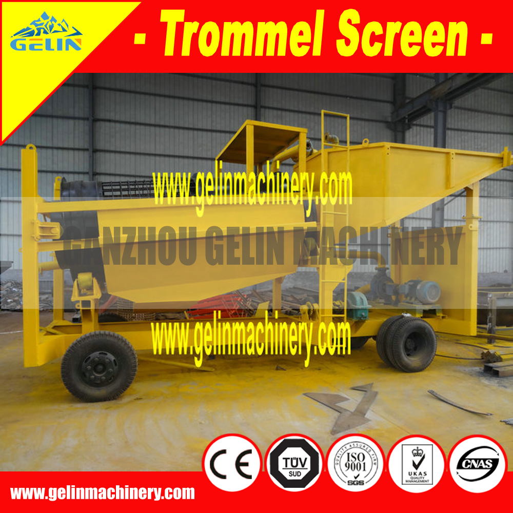 Mobile type sand stone and soil washing machine
