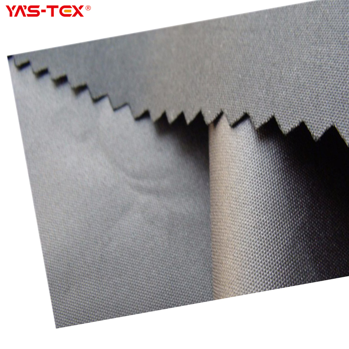100% polyester 135gsm without elastane peach skin PU coated fabric