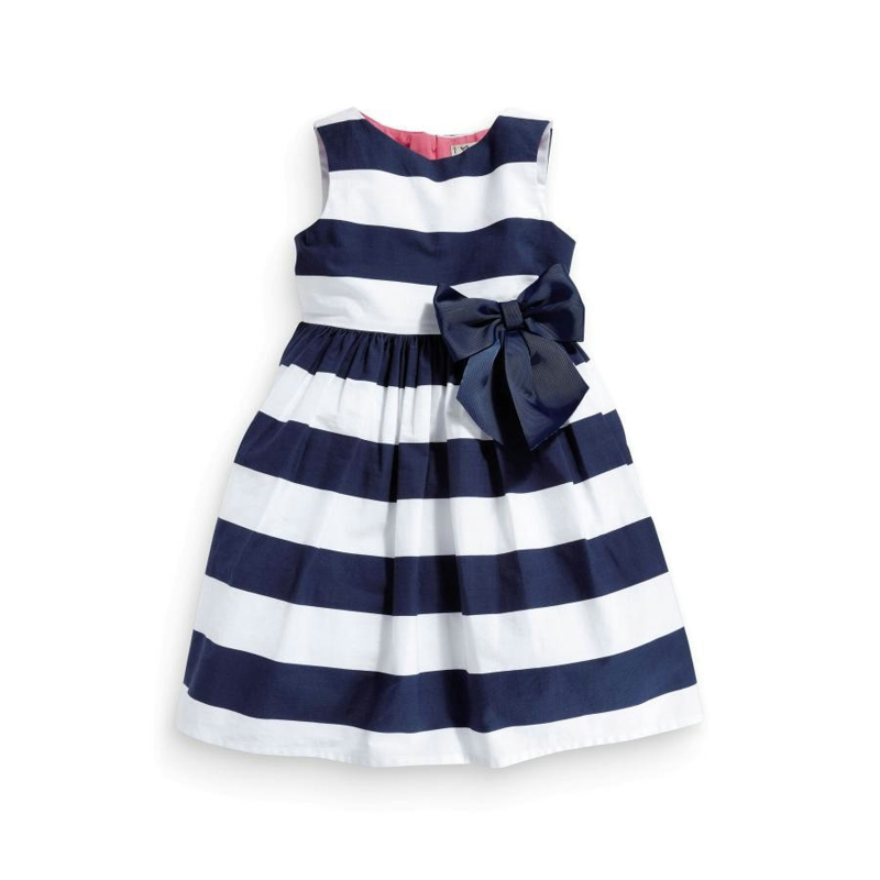 1bef1de90430 Fashion summer smocked baby girl clothes toddler white and navy blue ...