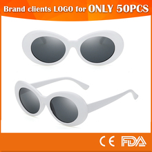 KURT Cobain Nirvana MOD Thick Round vintage Sun glasses oval sunglasses 2017