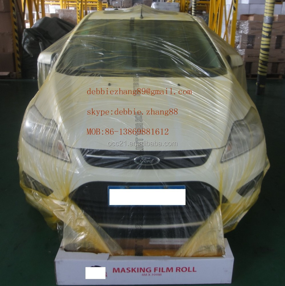 Auto paint masking film PE painters plastic sheeting