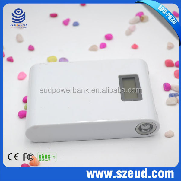 EUD-PB30 High capacity 12000mAh phone power pack bank universal portable power bank , Mobile Power Bank support