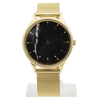 high quality PVD gold plated marble face unisex watches with with swiss ronda movement luxury brands