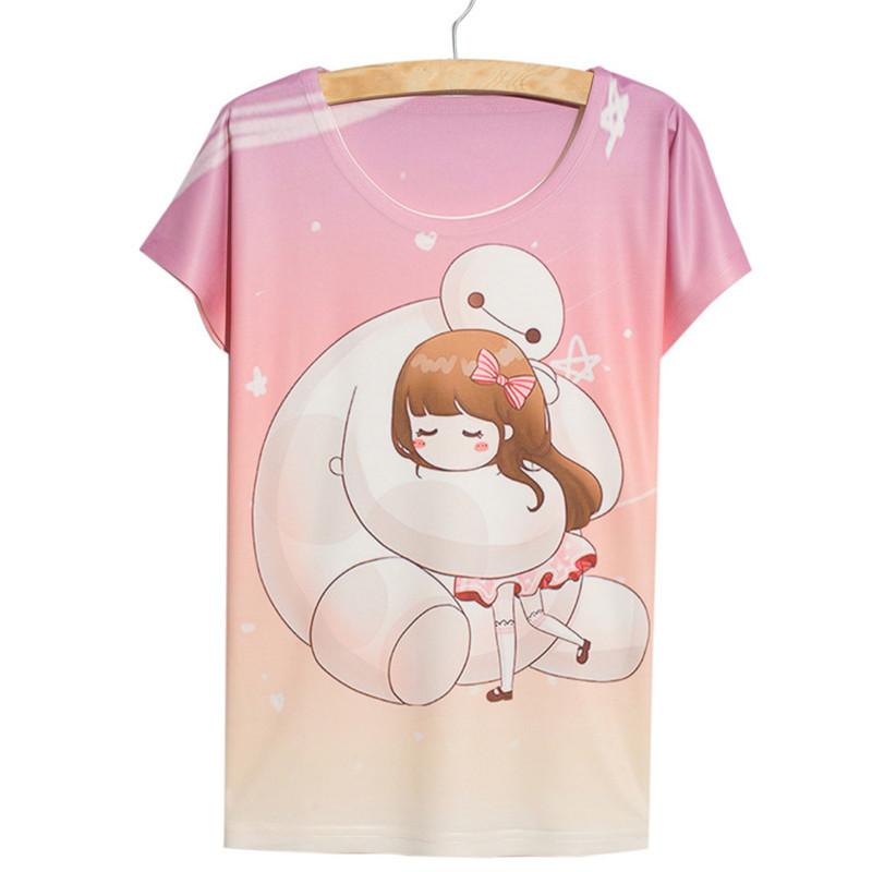 buy alisister newest big hero baymax t shirt girls pink clothes