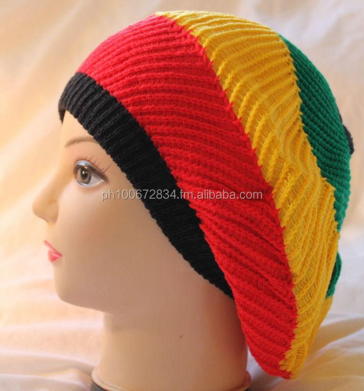 Jamaican Hat Beret Knit Slouchy Baggy Beanie Hat Jamaican Rasta - Buy Rasta Jamaican  Hat Product on Alibaba.com 73d07a116d0