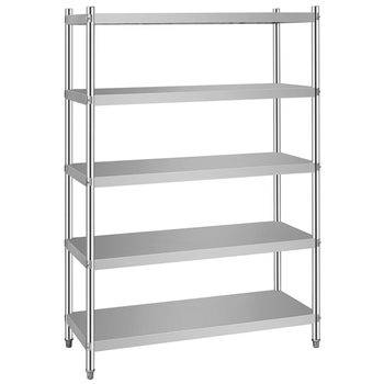 Metal Storage Rack Multi-level Stainless Steel Shelf For Kitchen Warehouse  - Buy Metal Storage Racks,Stainless Steel Shelf,Metal Rack Product on ...