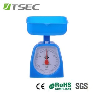 Dial Display Bowl Shape Square Pan Plastic Shell Mechanical Kitchen Scale for1kg 2kg 3kg 5kg