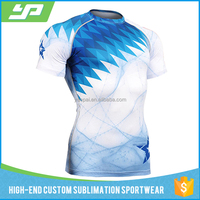 Sublimation printing gym wear custom your owm logo blank rash guard