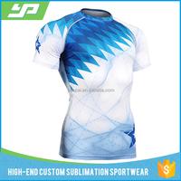 Sublimation printing gym wear custom your owm logo blank rash guard