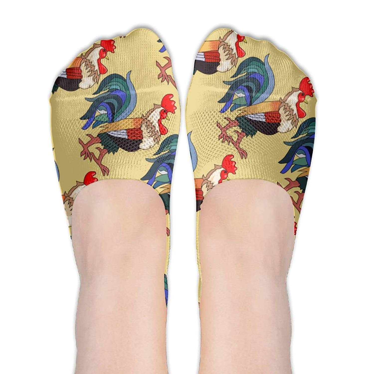 ed3d43157 Get Quotations · Girls Chicken Animal Socks For Loafers Ankle Length Socks  Cool Printed Non Slip Socks For Lady