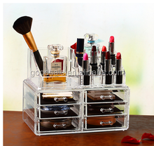 Premium Quality clear plastic acrylic desk cosmetic storage organizer display boxes
