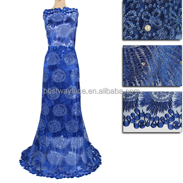 2017 Fashion style french tulle lace/ african lace fabric in wine color for indian/dubai/african wedding dress