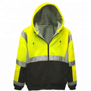 0b851783d7b TIMES 2019 New Come OEM Custom Fashion Reflective Tape xxxxl Plus Size  Safety Hoodies Jacket For