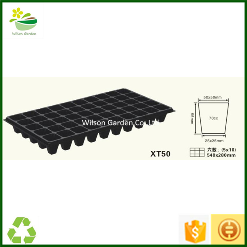 Wholesale plastic starting flower vegetable seeds indoors 50 cells