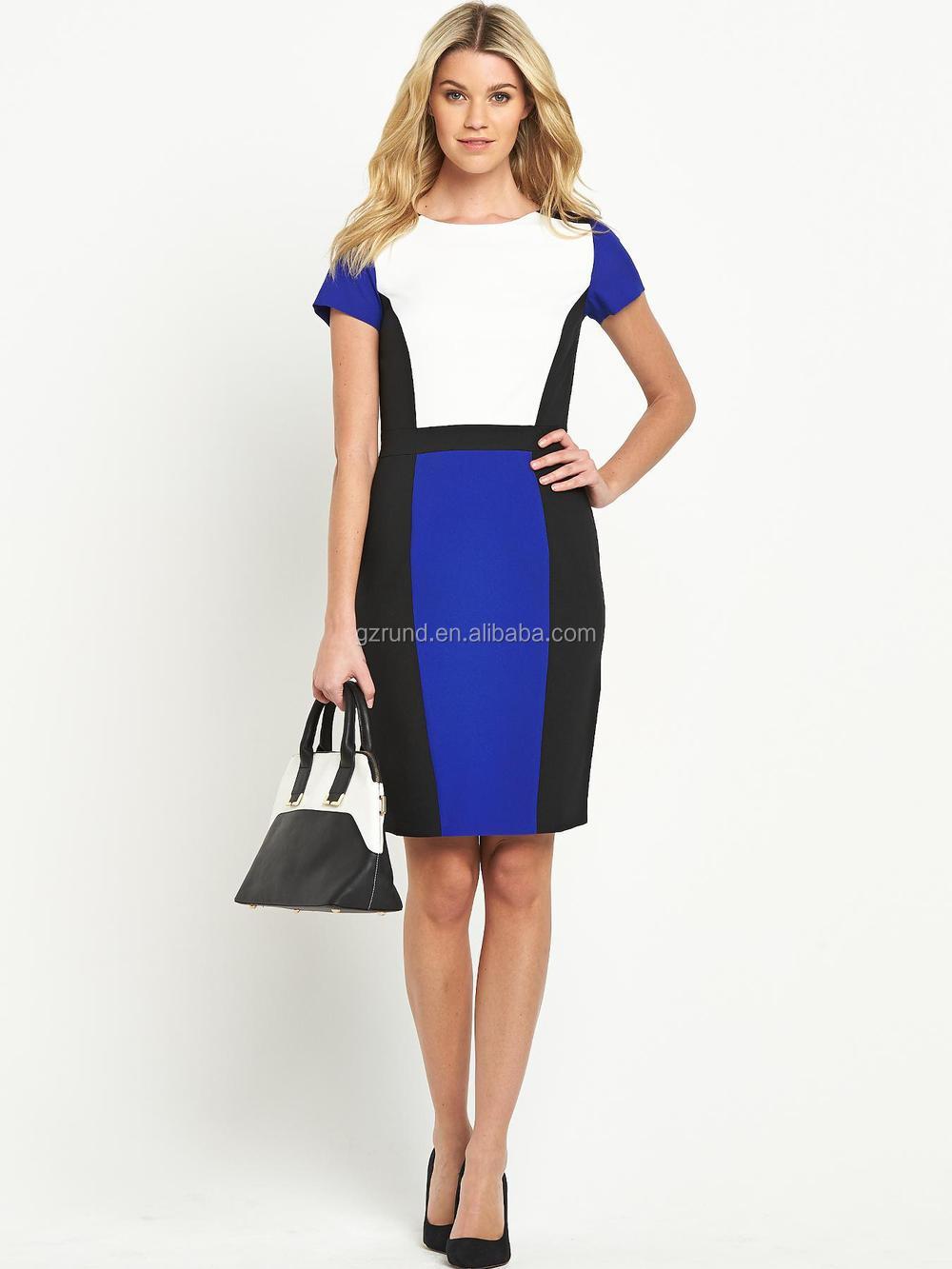 b9c42c56c Vestidos formales de oficina para las mujeres cuadros vestido Oficina para  las señoras fotos semi vestidos