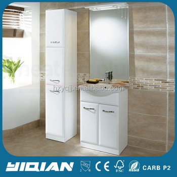 High end mdf base mirror cabinet free standing gloss white - Mirrored free standing bathroom cabinet ...