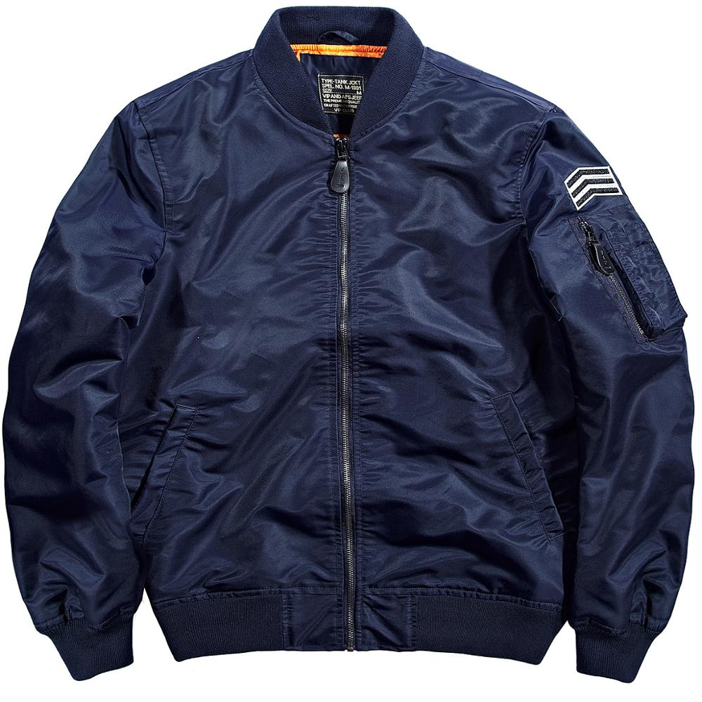 2017 Hottest wearing mens leather or regular sleeve ma-1 air force flight bomber jacket