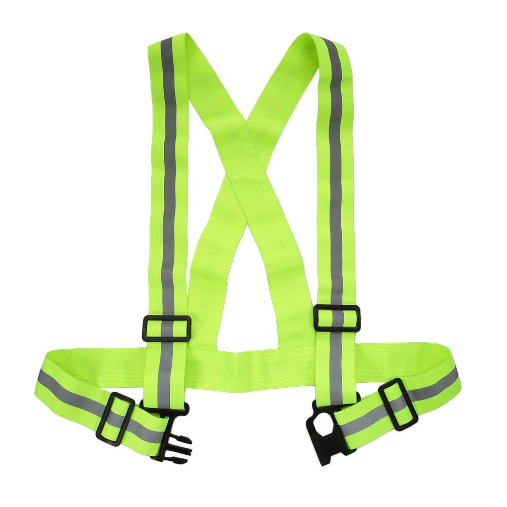 Men's Underwear Reflective Vest High Visibility Safety Strap Cycling Jogging Running Adjustable Shapers Orange Green Black Purple Red High Quality Goods Shapers
