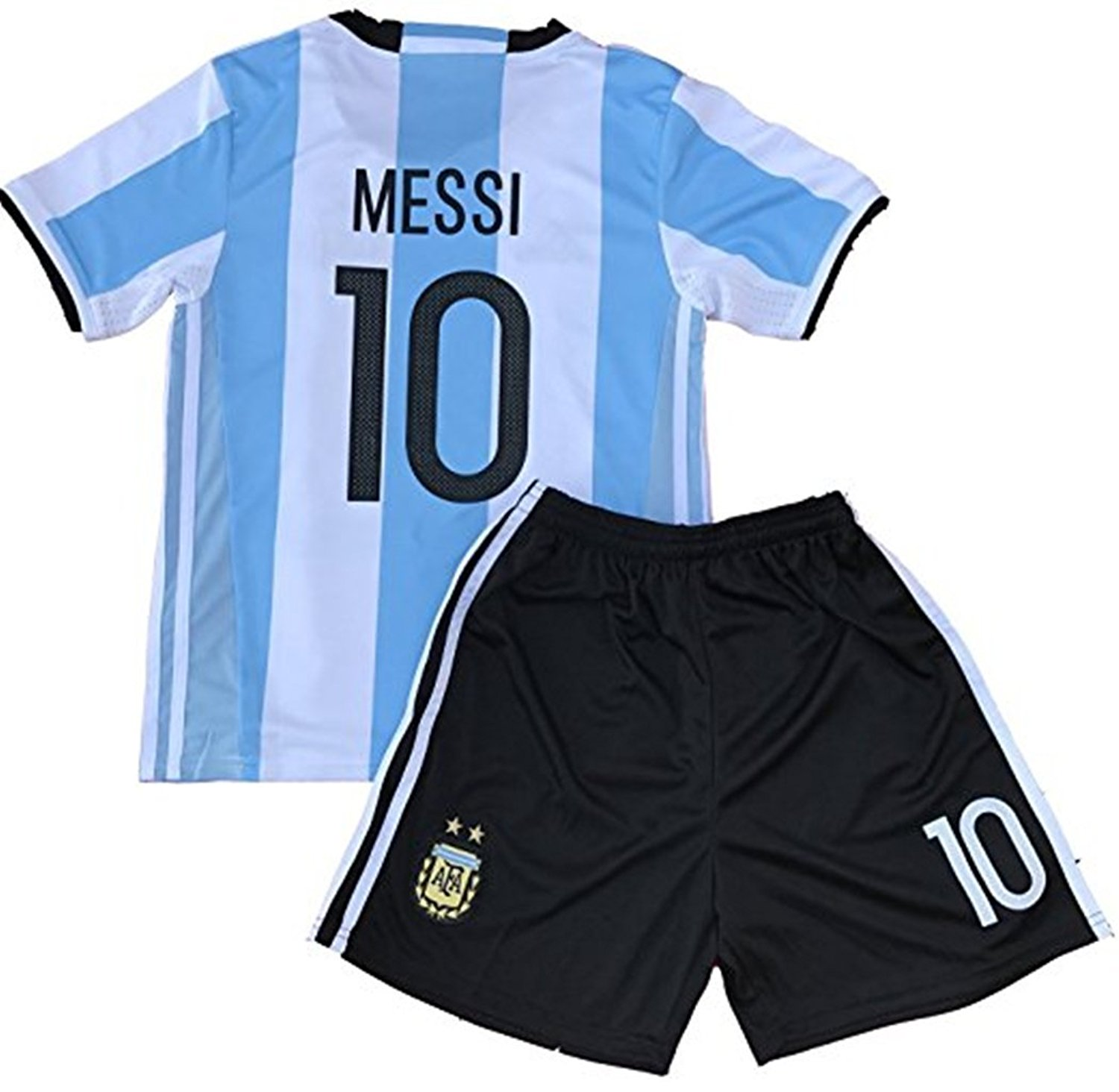 279614579 Get Quotations · RussiaJRS 10 Messi Jersey 2018 Russia World Cup Argentina  Home Soccer Jersey Youth Kids Jersey