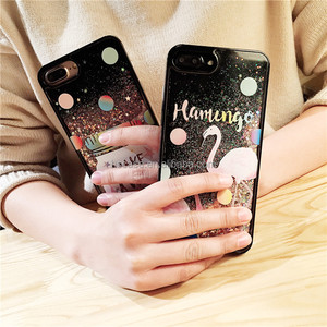 HS 2 patterns Glitter Quicksand star PC+TPU back phone case cover for iphone 6/6s/plus/7/7 plus