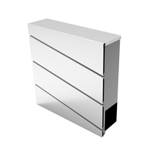 Square Galvanized Steel Metal Mailbox