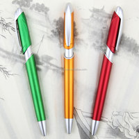Custom Advertising Office Writing Instruments Plastic Materail Cheap Click Retractable Promotional Ballpoint Pen