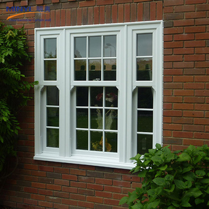 American style vertical sliding pvc double hung window