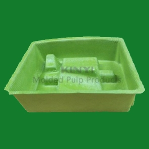 Customized and eco-friendly paper pulp molded electronic inner carton packaging