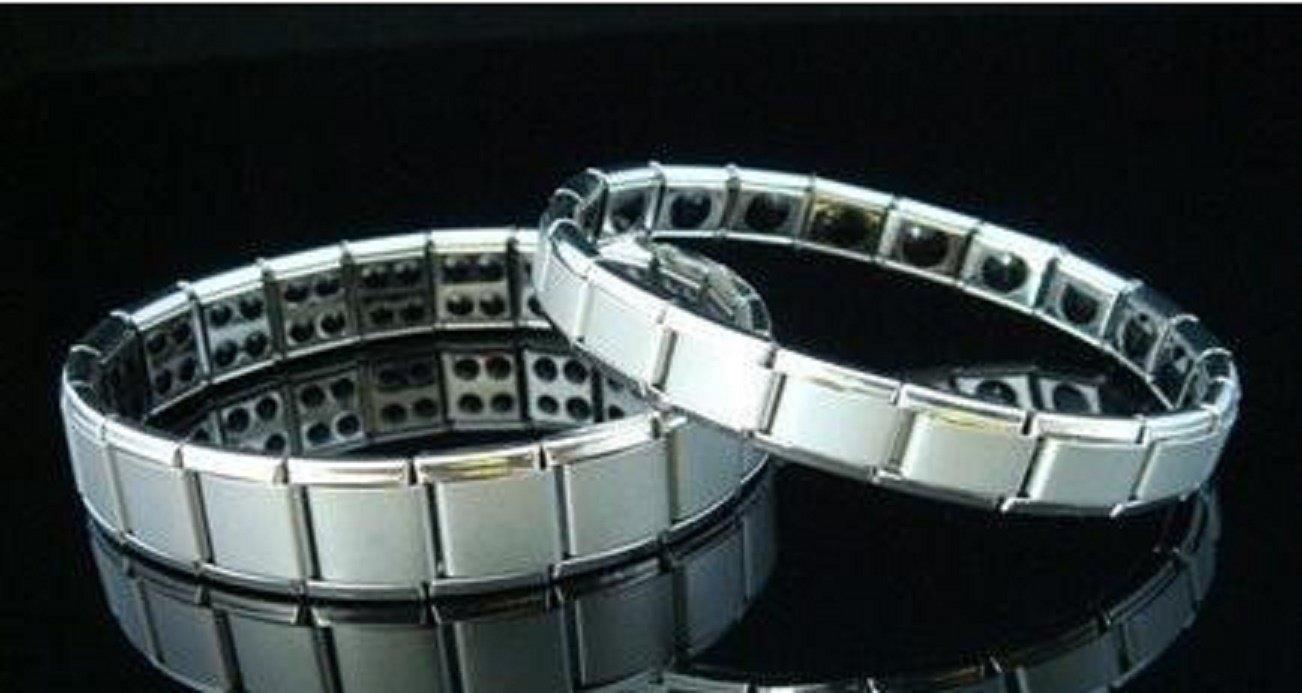 Nano Energy Magnetic Stone Titanium Germanium Bracelet - One Item